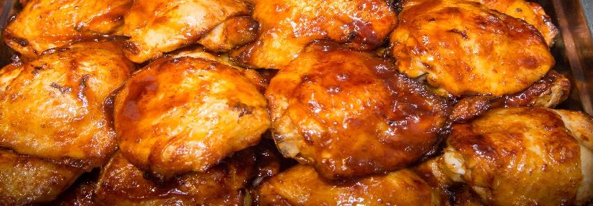 Honing-ketjap kippendijen